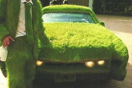 Extreme environmentalism... it's like a Chia pet for your car!